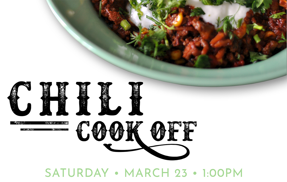 Chili Cook Off - Saturday - March 23 - 1:00PM