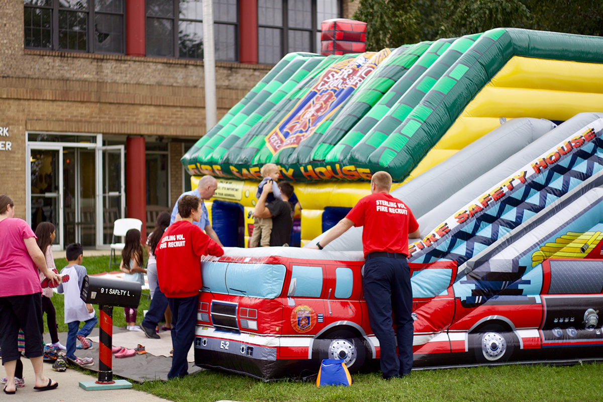 The Sterling Fire Department hosted their open house alongside SterlingFest, filled with lots of fun family activities