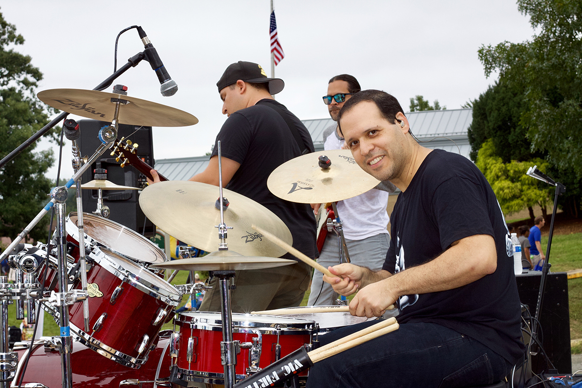 Local Sterling band Ocho de Bastos entertained the SterlingFest crowd with great music
